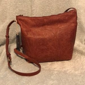 Gorgeous Leather Tooled Purse